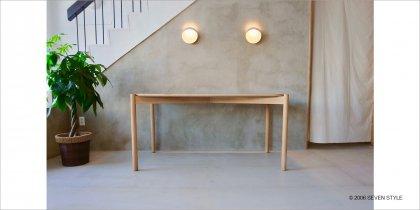 【OUTLET】 KARIMOKU NEW STANDARD キャストールテーブル150(ピュアオーク)