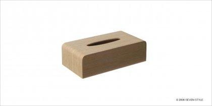 サイトーウッド Tissuebox Cover (white oak grain)