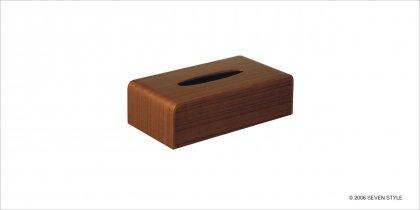 サイトーウッド Tissuebox Cover (teak grain)