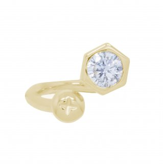 <img class='new_mark_img1' src='https://img.shop-pro.jp/img/new/icons55.gif' style='border:none;display:inline;margin:0px;padding:0px;width:auto;' />NUT&BOLT TWISTED RING(YELLOW GOLD)