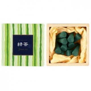 日本香堂のお香 かゆらぎ 緑茶 コーン