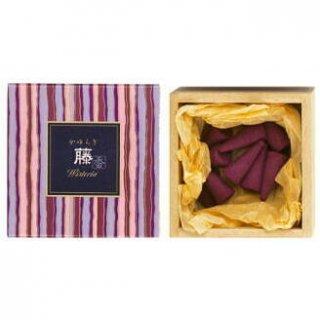 日本香堂のお香 かゆらぎ 藤 コーン