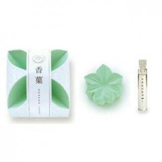 日本香堂のお香 香菓 もみじ形(緑色) オイル付
