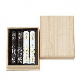 【送料無料】日本香堂のお線香ギフト 司薫 二種香(白檀・沈香) 短寸4筒入 桐箱