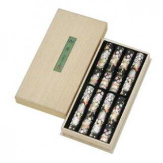 【送料無料】 奥野晴明堂のお線香ギフト 千年桜 短寸8筒入 桐箱
