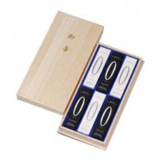 【送料無料】奥野晴明堂のお線香ギフト ゼロアソート 短寸6箱入 桐箱