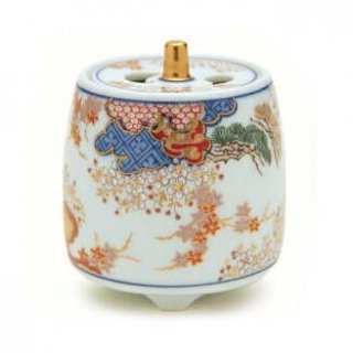 日本香堂の空薫向き香炉 春秋文 筒型香炉