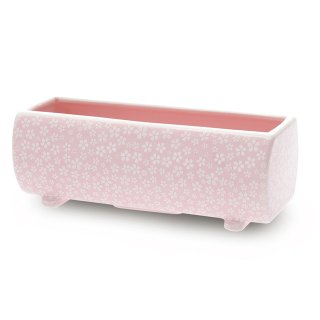 長川仁三郎商店の燃香 らくらく燃香用 香炉 ピンク(桜小紋)