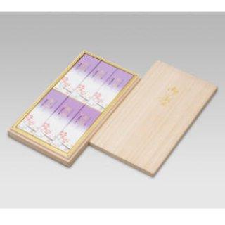 【送料無料】 精華堂のお線香ギフト 京山墨書の香り 小バラ6入 桐箱