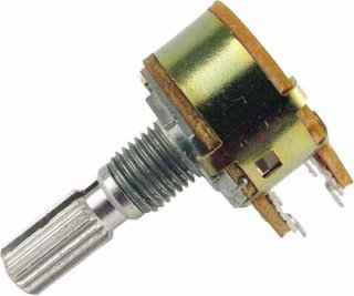 Potentiometer - Marshall, 10K, Linear, Dual, 16mm