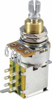 Potentiometer - Linear, Knurled Shaft, DPDT, Push-Push<img class='new_mark_img2' src='//img.shop-pro.jp/img/new/icons21.gif' style='border:none;display:inline;margin:0px;padding:0px;width:auto;' />