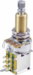 Potentiometer - Linear, Knurled Long Shaft, DPDT, Push-Push<img class='new_mark_img2' src='//img.shop-pro.jp/img/new/icons21.gif' style='border:none;display:inline;margin:0px;padding:0px;width:auto;' />