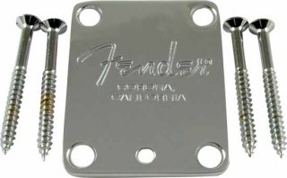 Neck Plate - Fender, for American Standard Guitar, Chrome