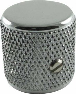 Knobs - Fender, Telecaster/P-Bass Barrel, Chrome, Set of 2