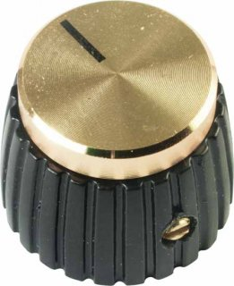 Knob - Set Screw, Marshall Style, black