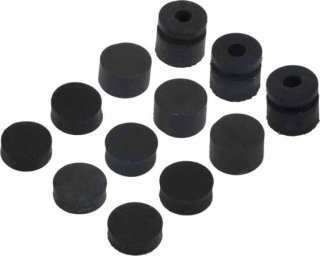 Grommets - Dunlop, Offset, 3x4 Different Sizes