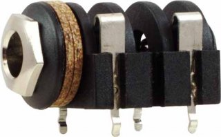 Jack - Rean , 1/4'', Mono, 2-Pole Horizontal, Switched, PC Terminals