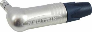 1/4'' Plug - Neutrik, Right Angle, 3-Pole Stereo, Nickel Contacts