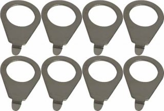 Knob pointer - Kluson, 90 degree blunt tip, Steel, package of 8