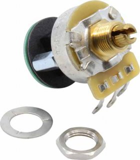 Potentiometer - Fender, S-1, Knurled Shaft, 4PDT, 250 kΩ
