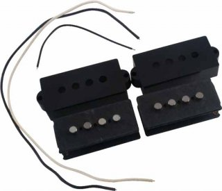 Pickup Kit - P-Bass, Black Cover