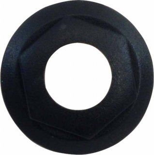 Bezel / Nut - Cliff, For S4, Combined Nut / Bezel, Black