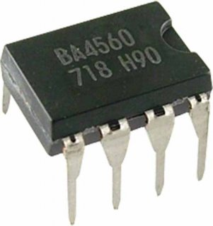 Op-Amp - BA4560, Dual, General Purpose, 8-Pin DIP
