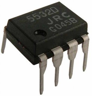 Op-Amp - NE5532, Dual, Low-Noise, 8-Pin DIP