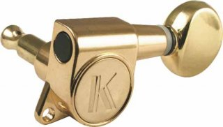 Machine Head - Kluson, 6 in line, Contemporary Diecast, Gold