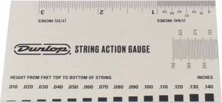 String Action Gauge - Dunlop, System 65