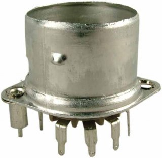 Socket - Belton, 9 Pin, Crimped with Shield Base, PC mount