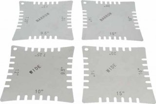 Radius Gauges - Notched  Package of 4