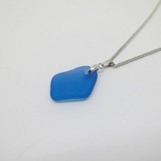 青色シーグラス ネックレス BN-42