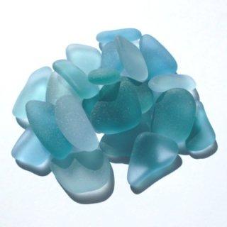 水色系シーグラス素材(クラフト用2〜2.5cm) SS-31