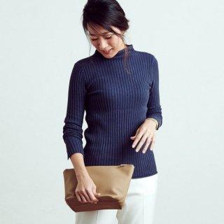 セーター/シルクカシミヤリブボトルネック