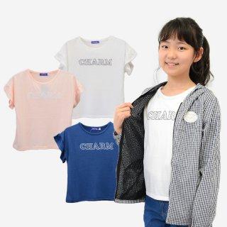 袖フリルTシャツ