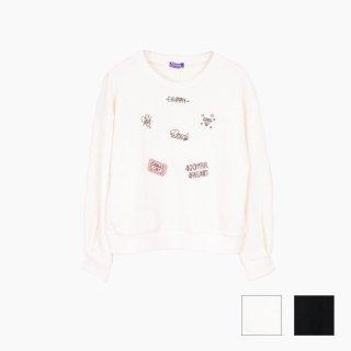 刺繍×ワッペンプルオーバー