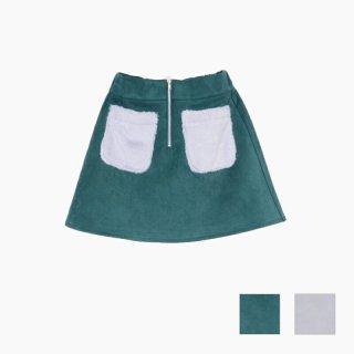 ファーポケットスカート
