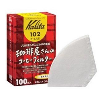 【箱買い】カリタ・珈琲屋さんのコーヒーフィルター【酸素漂白102】100枚入25セット【返品不可商品】