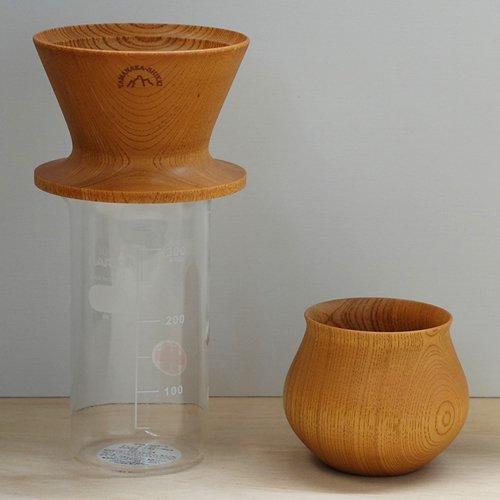 【もれなくハリオビーカープレゼント!】安清式木製ドリッパー&木の器セット ナチュラル