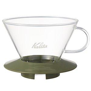 【カリタ/Kalita】ガラスドリッパー WDG-185AG アーミーグリーン