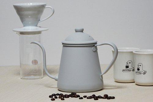 タカヒロ ドリップポット 0.9L 雫 ホワイトグレー 【ブランディングコーヒーオリジナルカラー】
