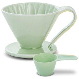 CAFEC 磁器フラワードリッパー CUPS4 Green【若葉】 CFD-4GR 2〜4杯用