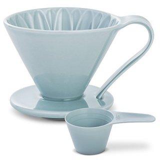CAFEC 磁器フラワードリッパー CUPS4 Blue【紫陽花】 CFD-4BL 2〜4杯用