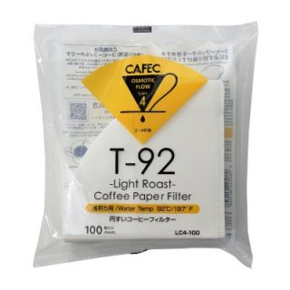 CAFEC 浅煎り用円すいコーヒーフィルター LC4-100W White 100枚入 2〜4杯用