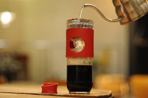 Cafflano カフラーノ ポータブルコーヒーメーカー GO BREW ゴーブリュー レッド B100-RD
