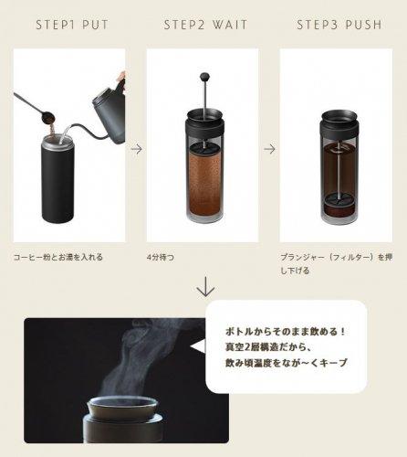 ビタントニオ コーヒープレスボトル ナイトブラック VCB-10-N