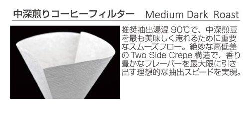 CAFEC 中深煎り用円すいコーヒーフィルター T-90 MC4-100 White 100枚入 2〜4杯用