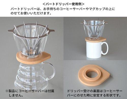 スロー&メロー バートドリッパー 1〜4杯用 SNDZK1808-01