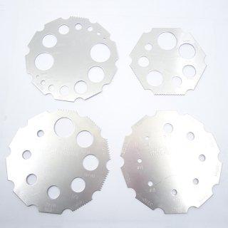 ピッチゲージ&ボルトゲージ セット ミリ/インチ ネジピッチ測定工具